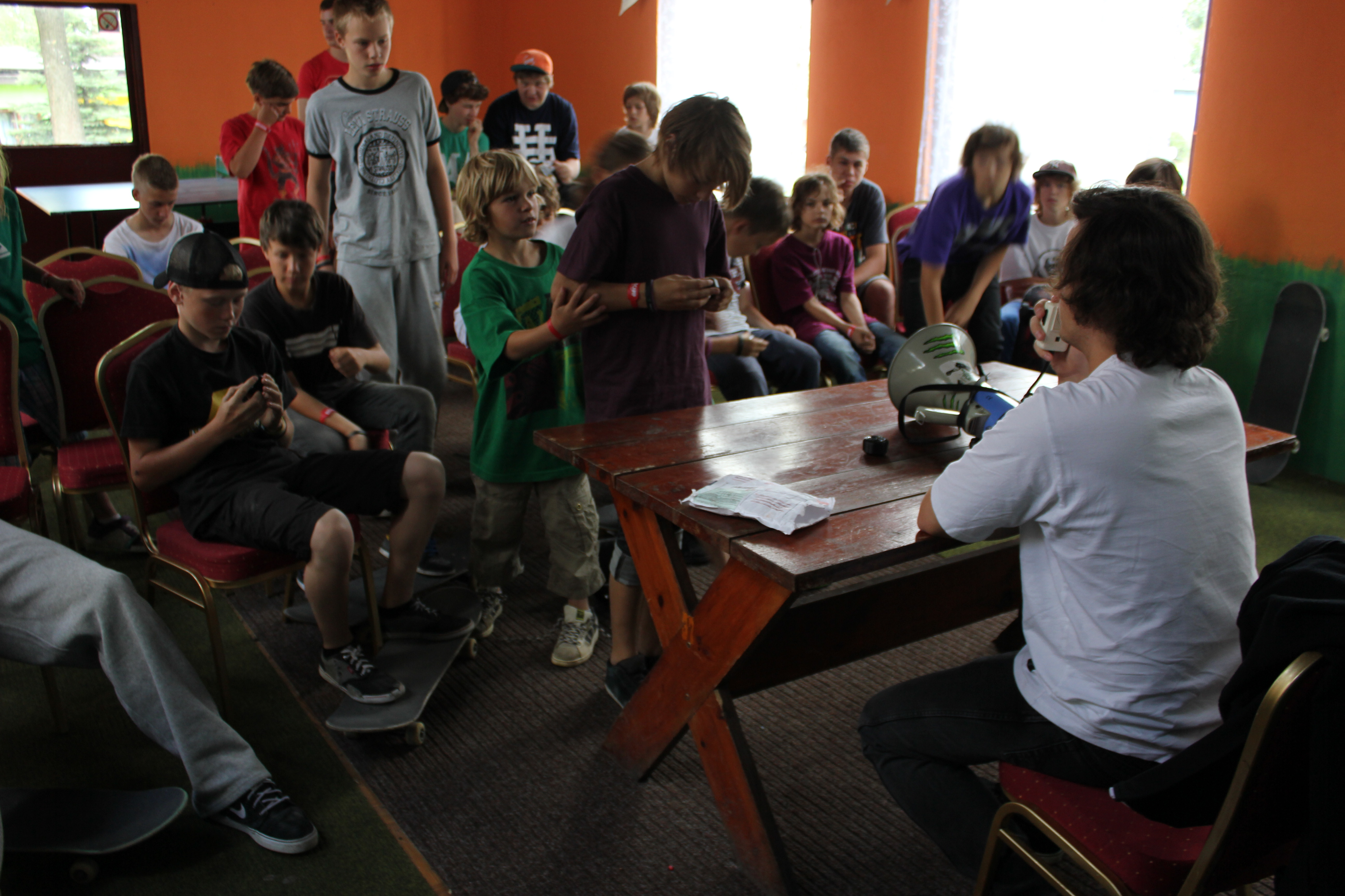 Tradycyjnie zorganizowaliśmy wykłady na temat sprzętu deskorolkowego.