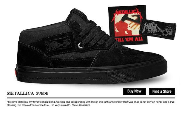 Vans x Metallica Half Cab Skateaffair