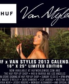 HUF X VAN STYLES 2013 CALENDAR