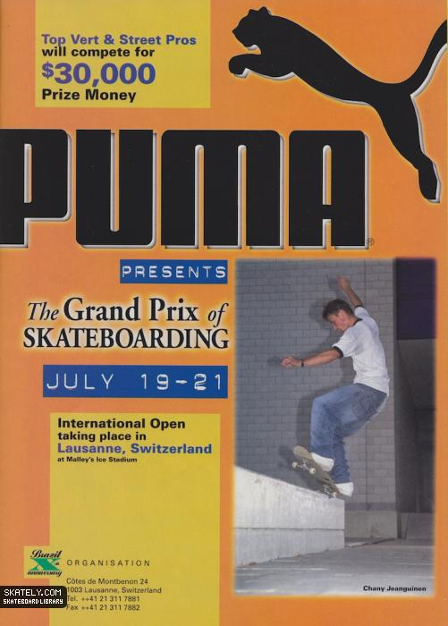 Skateboarding Grand Prix 1996 presented by Puma.