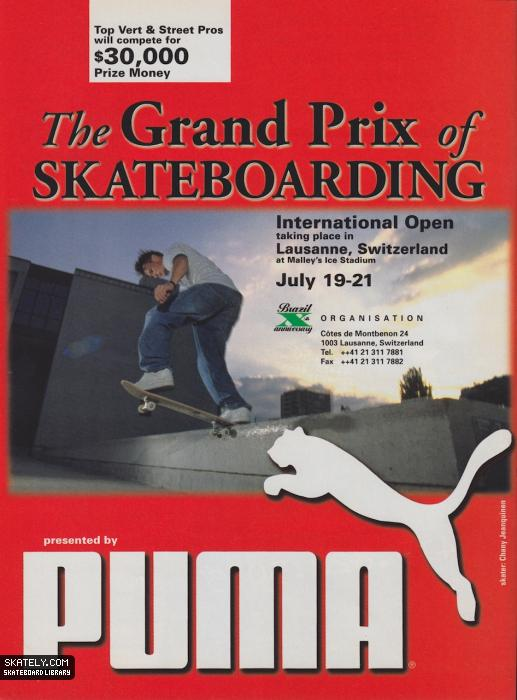 Skateboarding Grand Prix presented by Puma.