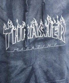 thrasher silver hoodie