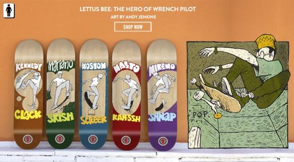 Girl Skateboards - Lettus Bee Series