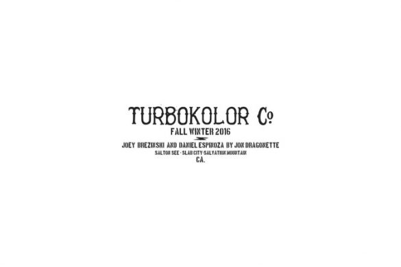 Turbokolor – FW16 lookbook – Joey Brezinski & Daniel Espinoza