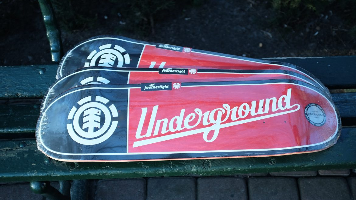 Element Skateboards x Underground Skateshop
