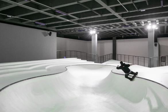 Skatepark, który świeci w ciemnosci