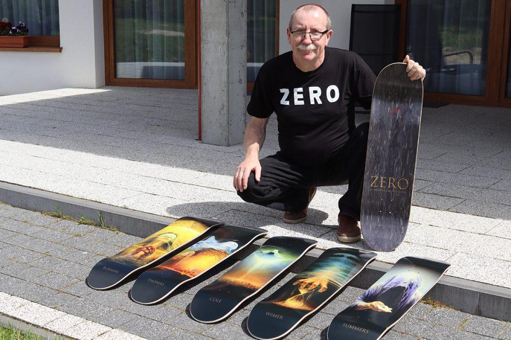 Mariusz Lewandowski i stworzona przez niego seria desek ZERO Skateboards